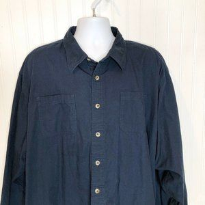Wrangler Button Up Flannel Lined Shirt blue plaid